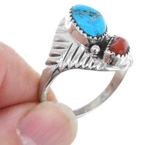 Native American Silver Turquoise Navajo Ring 41242