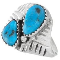 Sterling Silver Blue Turquoise Ring 41243