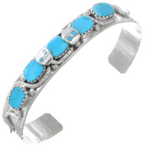 Sterling Silver Turquoise Zuni Snake Bracelet 41245