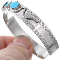 Calavaza Snake Design Zuni Turquoise Bracelet 41245