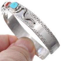 Calavaza Snake Design Coral Turquoise Bracelet 41246