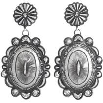 Large Sterling Silver Navajo Earrings 41251