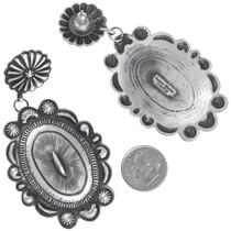 Native American Western Silver Earrings Artist Eugene Charley Signed 41251