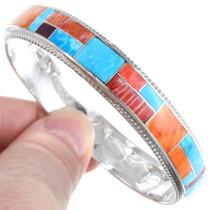 Colorful Zuni Multistone Inlay Bracelet 41254