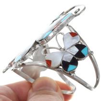Native American Gemstone Inlay Butterfly Bracelet 41258