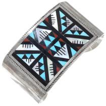 Vintage Sterling Silver Zuni Inlay Bracelet 41260