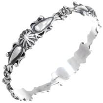 Navajo Sterling Silver Bangle Bracelet 41261
