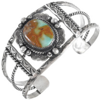 Native American Turquoise Sterling Silver Bracelet 41263