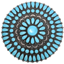 Navajo Turquoise Cluster Brooch Pin 41266