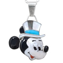 Turquoise Top Hat Mickey Mouse Pendant 41269
