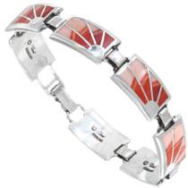 Spiny Oyster Inlay Tennis Bracelet 41271
