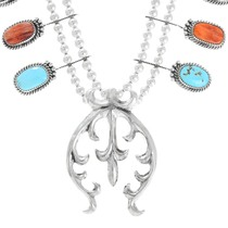 Sterling Silver Naja Turquoise Necklace 41276