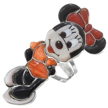 Zuni Gemstone Inlay Minnie Mouse Ring 41278