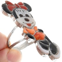 Sterling Silver Native American Minnie Mouse Ring 41278