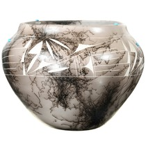 Hand Etched Acoma Pottery Art 37292