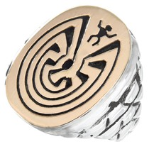 Gold Man in the Maze Ring 41282