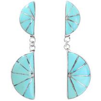 Sleeping Beauty Turquoise Zuni Earrings 41283