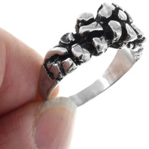 Native American Organic Sterling Silver Ring 41286