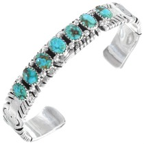 Sterling Silver Natural Turquoise Bracelet 41290