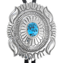 Natural Turquoise Sterling Silver Bolo Tie 25756