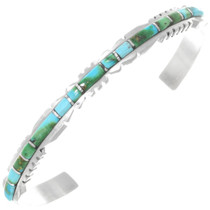 Blue and Green Turquoise Sterling Silver Bracelet 41291
