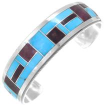 Unique Colorful Gemstone Mix Mosaic Inlay Turquoise Bracelet 41295
