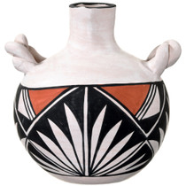 Hand Painted Native American Pottery with Handles 37306