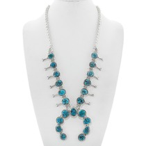 Natural Turquoise Squash Blossom Necklace 41305