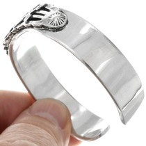 All Silver Native American Thunderbird Symbol Bracelet 41306