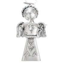 Vintage Navajo Sterling Silver Angel Pendant 41323