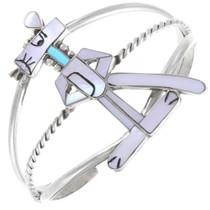 Sterling Silver Native American Pink Panther Bracelet 41327