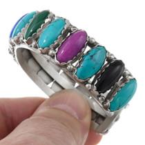Spiderweb Turquoise Lapis Cuff Bracelet 41329