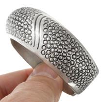 Navajo Hammered Patterns All Sterling Silver Bracelet 41330