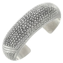 Vintage Sterling Silver Navajo Cuff Bracelet 41330