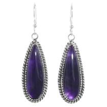 Sterling Silver Amethyst Earrings 41340