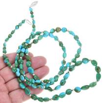 Vintage Double Strand Royston Turquoise Necklace 41351