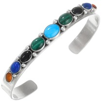 Colorful Multistone Turquoise Cuff Bracelet 41357
