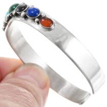 Navajo Turquoise Malachite Lapis Sterling Silver Bracelet 41357