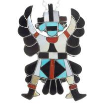 Knifewing Gemstone Inlay Zuni Pendant 41307