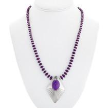 Sterling Silver Purple Gemstone Necklace 41370