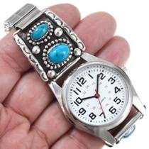 Native American Arizona Blue Turquoise Watch 41373