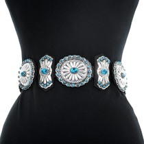 Natural Turquoise Native American Belt 41375