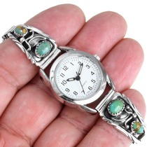 Sterling Silver Turquoise Ladies Watch 41379