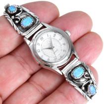 Sterling Silver Navajo Opal Watch 41382