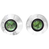 Green Turquoise Navajo Earrings 41383