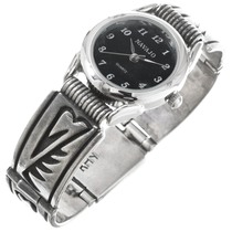 Old Pawn Navajo Sterling Silver Watch 41384