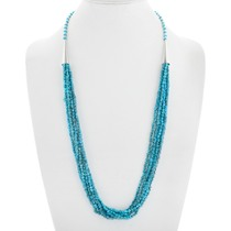 Natural Turquoise Beaded Necklace 41385