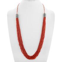 Natural Mediterranean Coral Bead Necklace 41386