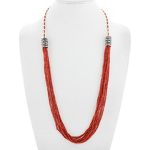 Mediterranean Coral Beaded Necklace 41387