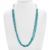 Natural Turquoise Beaded Necklace 41389